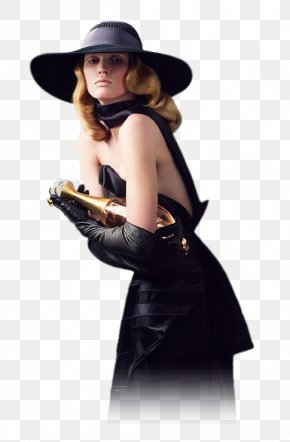 Lady With Hat - Lara Stone Painting Woman With A Hat Female PNG