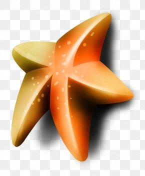 Orange Five-pointed Star - Orange Pentagram Five-pointed Star PNG