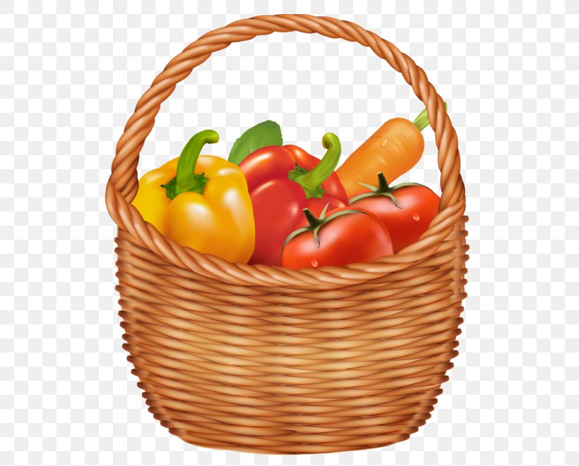 Basket Vegetable Clip Art, PNG, 548x661px, Veggie Burger, Basket, Bell Peppers And Chili Peppers, Can Stock Photo, Chili Pepper Download Free
