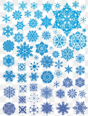 Vector Winter Scene - Snowflake Euclidean Vector Illustration PNG
