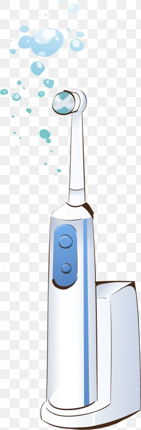 Vector Painted Electric Toothbrush - Electric Toothbrush PNG
