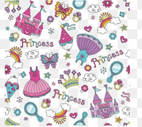 Princess Element Background Vector Material - Euclidean Vector Royalty-free Clip Art PNG