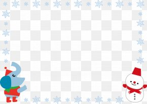 Winter Snowflake Border Snowman - Winter Lichun Photography Summer Illustration PNG