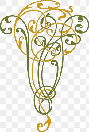 Calligraphy - Vignette Curlicue Calligraphy Panel PNG