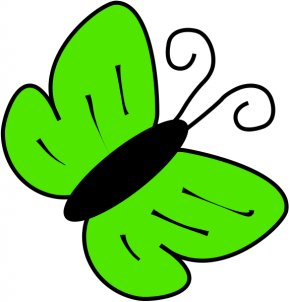 Green Cliparts - Butterfly Clip Art PNG