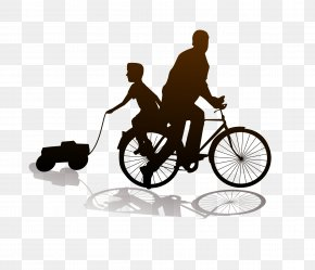 Father And Son Riding A Bike - Fathers Day Son Mother PNG