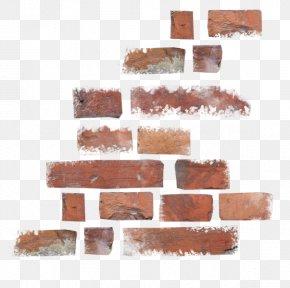 Broken Red Bricks - Brick Wall PNG