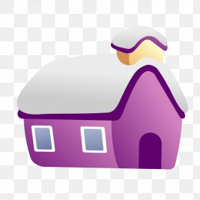 Purple Tile Igloo - Igloo Snow Roof Tiles PNG