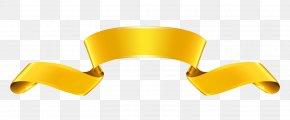 Ribbon - Paper Ribbon Web Banner Gold Clip Art PNG