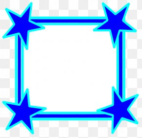 Star Frame Cliparts - Blue Star Clip Art PNG