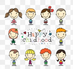 HAPPY,CHILDOOD - Childrens Day Illustration PNG