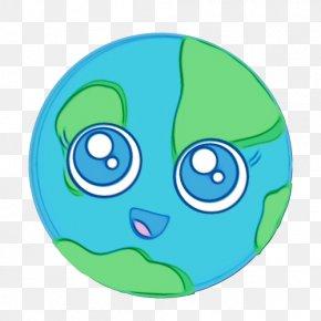 Fictional Character Smile - Green Cartoon Aqua Circle Clip Art PNG