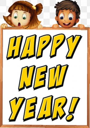 Happy New Year On The Whiteboard! - New Year Royalty-free Illustration PNG