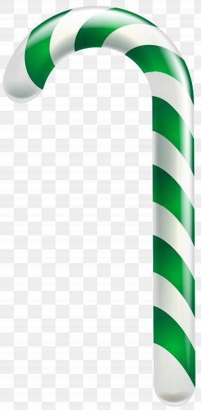 Green Spearmint Candy CaneTransparent Clip Art Image - Candy Cane Ribbon Candy Christmas Candy PNG