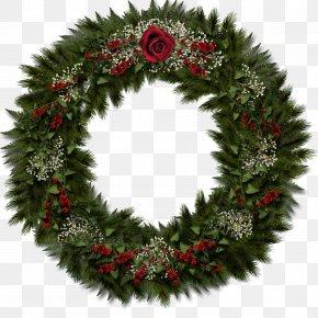 Garland - Christmas Decoration Wreath Clip Art PNG