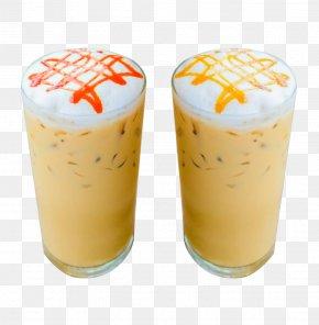 Frozen Caramel Milk Coffee - Milkshake Coffee Milk Juice PNG