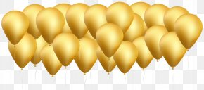 Gold Balloons Clip Art Image - Balloon Clip Art PNG