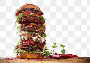 Stacker Burger FIG. - Hamburger Cheeseburger Buffalo Burger Fast Food French Fries PNG