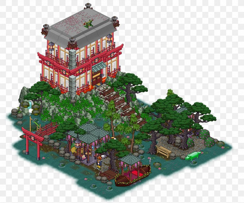 Habbo Japanese Garden Room House Png 1482x1234px Habbo Building Gamespot Garden Highdefinition Television Download Free