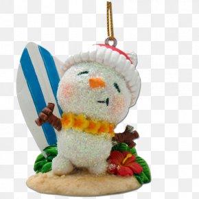 Santa Claus - Christmas Ornament Santa Claus Hawaii Surfing PNG