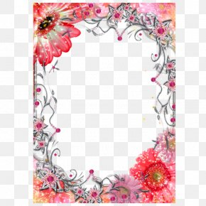 Valentine's Day Flowers Electronic Frame - Picture Frame Mothers Day Valentines Day Film Frame PNG