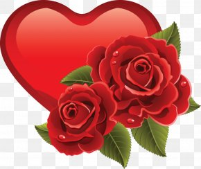 Romantic - Heart Rose Valentine's Day Clip Art PNG