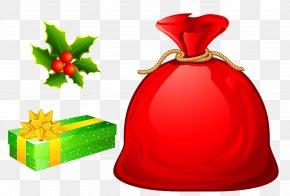 Christmas Bags Cliparts - Santa Claus Bag Christmas Clip Art PNG