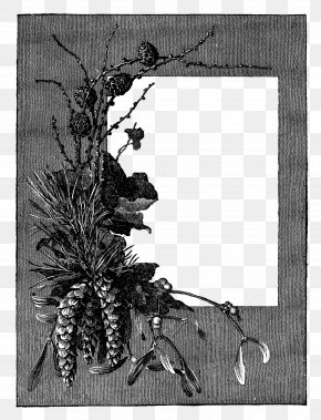 Gray Flower Frame File - Picture Frame Clip Art PNG