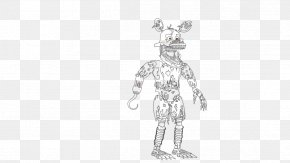 Nightmare Foxy - Five Nights At Freddy's 4 Drawing Nightmare Coloring Book PNG