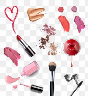 Lipstick, Makeup Brushes - Cosmetics Nail Polish Makeup Brush Lipstick PNG