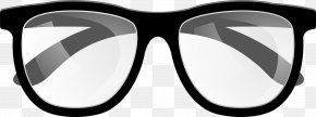 Black Simple Glasses - Goggles Sunglasses Black PNG