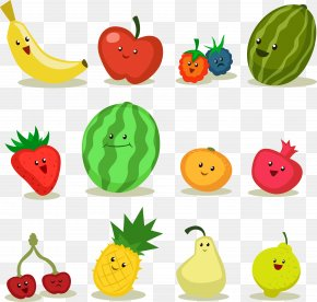Cartoon Fruit Vector Material - Fruit Apple Cartoon PNG