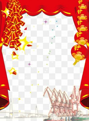 Chinese New Year Firecrackers Creative Style - Chinese New Year Firecracker Chinoiserie Lantern Festival PNG