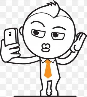Artwork Cartoon Painted Orange Tie Collar - White-collar Worker Cartoon Illustration PNG