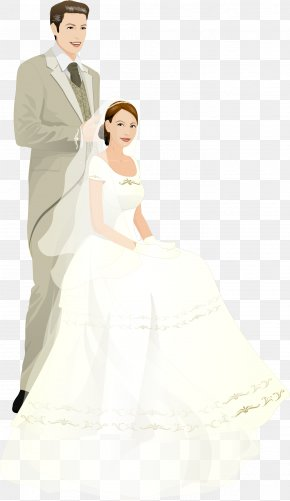 Vector Hand-painted Wedding - Bride Marriage Wedding Illustration PNG