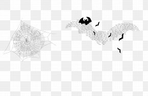 Black Bat - Black And White Brand Pattern PNG