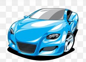 Cartoon Sports Car Element - Sports Car Ferrari Clip Art PNG