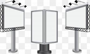 Vector Billboard Display Rack - Billboard Advertising Board Web Banner PNG