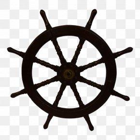Ship - Ship's Wheel Wall Decal Maritime Transport PNG