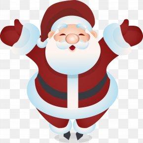 Red Ribbon Santa Claus - Santa Claus Christmas Rudolph Drawing PNG
