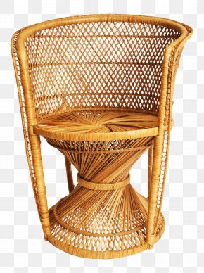 Noble Wicker Chair - Table Wicker Chair Basket Rattan PNG