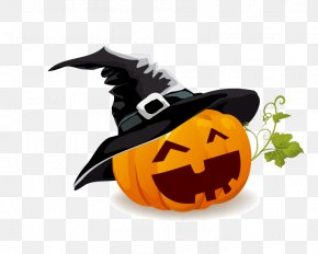 Halloween Pumpkin - Halloween Jack-o'-lantern Pumpkin Clip Art PNG