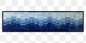 Row Of Lights - Wave Lavender Bargello Blue Pattern PNG