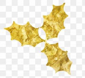 Holly Leaf - Blog Gold Leaf Clip Art PNG