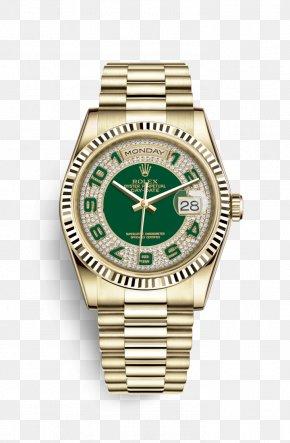 Rolex - Rolex Day-Date Watch Gold Rolex President Perpetual Day-Date PNG