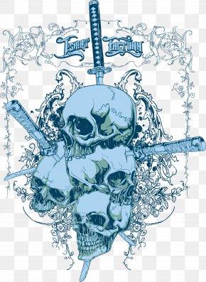Sword Skull Print - Adobe Illustrator Sword PNG