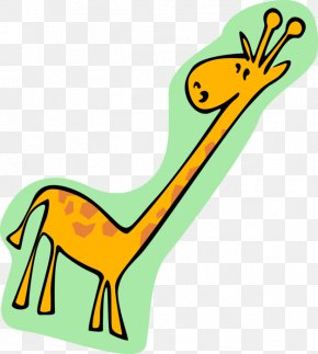 Giraffe Cartoon Vector - Clip Art Vector Graphics Illustration Giraffe Image PNG