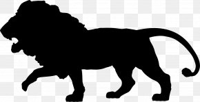 King Of Animals - Silhouette African Wild Dog Lion Clip Art PNG