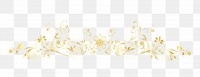 European Gold Frame Vector Lines - White Pattern PNG