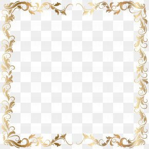 Border - Picture Frames Gold Clip Art PNG